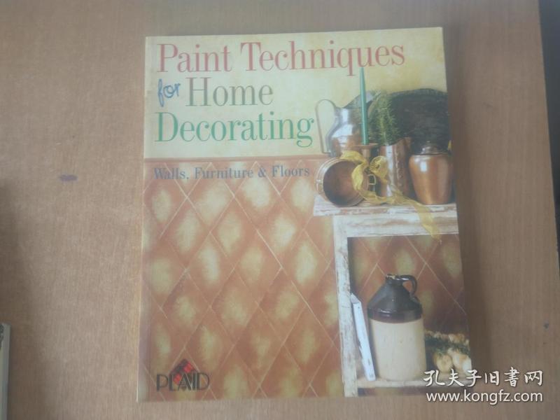 Paint Techniques for Home Decorating: Walls, Furniture & Floors Plaid 家居装饰的油漆技术:墙壁、家具和地板.