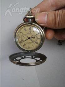 收藏级精致民国纯铜镂空机械小怀表