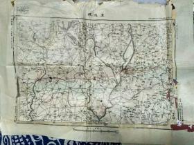 """民国二十年,参谋本部陆地测量部出版河北省""""卢龙县""""地图,"""