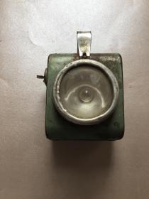"""自行车灯 上海自行车灯厂 """"飞轮牌""""车灯 夜灯 还可以亮,带飞轮牌商标 建国初期或六十年代左右"""