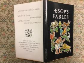 Aesops fables 伊索寓言,1971精装小册子,含优雅彩图,九品强