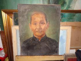 民国肖像老油画--60厘米*50厘米
