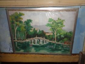 刚收来的老水彩画---40厘米*28厘米