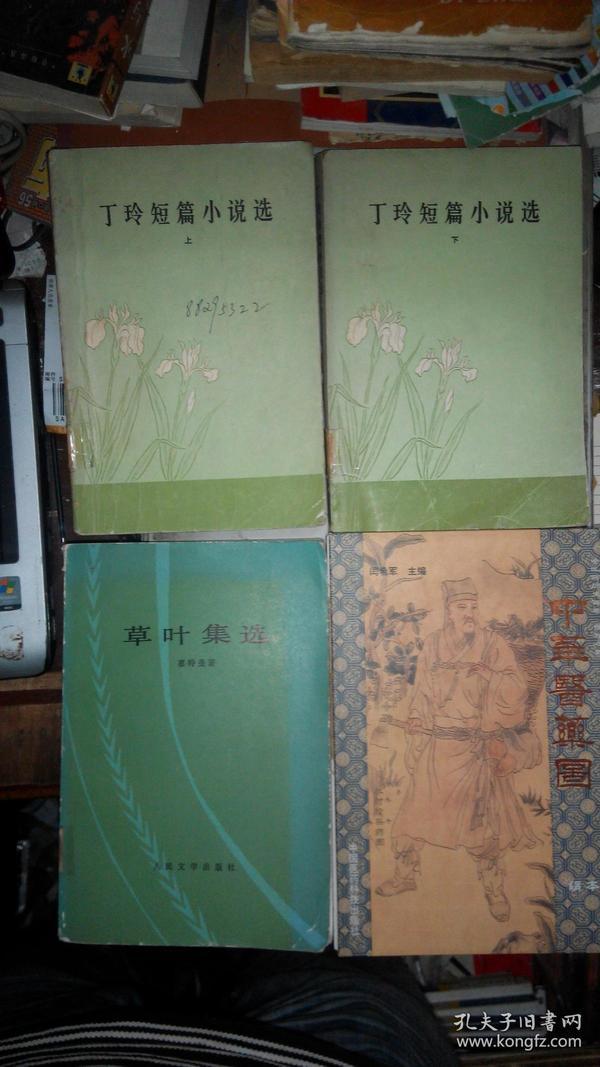 Y0184 丁玲短篇小说选(上下全二册、81年1版1印)