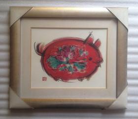 韩美林绘画发财金猪
