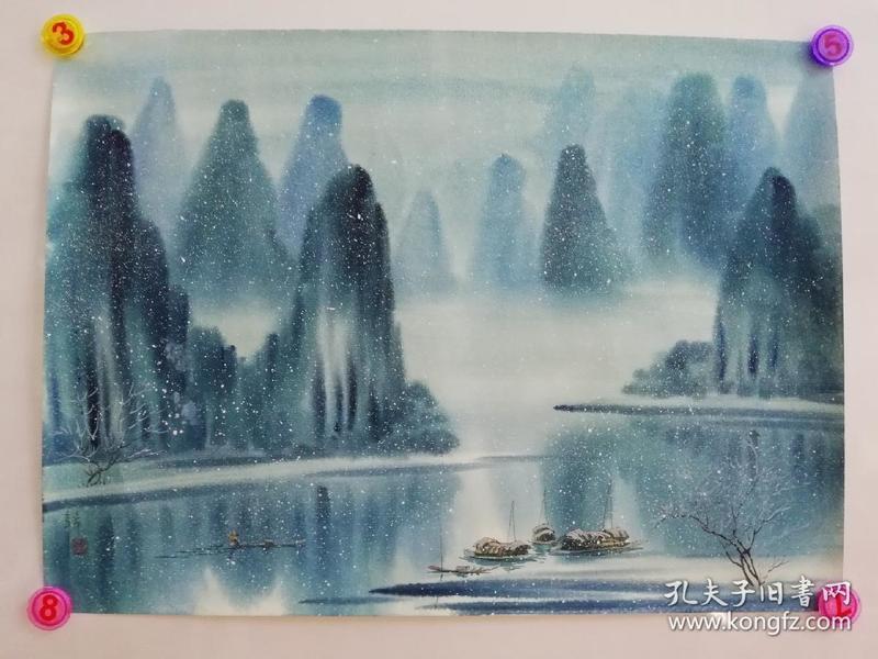 (包真)朱真松水彩画~春夏秋冬系列64*49厘米07号图片