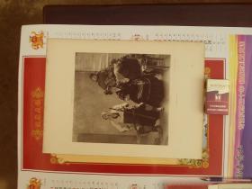 一八八几年单张单面铜版画--贵妇人