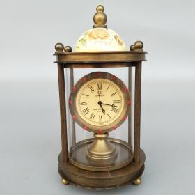 纯铜尖顶机械小表摆件 小钟表