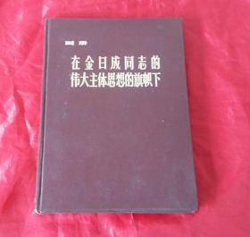 在金日成同志的伟大主体思想的旗帜下(朝鲜画册)【16开硬精装】