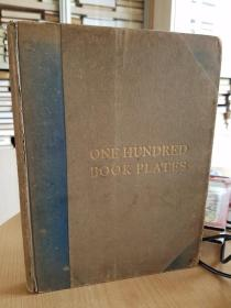 One hundred book plates engraved on wood by Thomas Moring