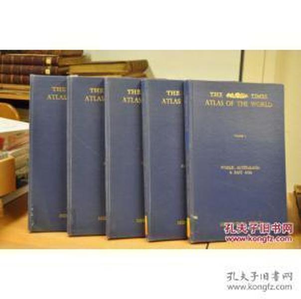 泰晤士世界地图册 英文版 .5卷本的中世纪版本! 51厘米高