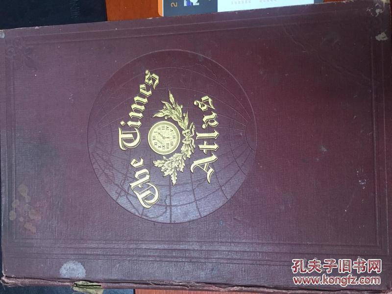 泰晤士世界地图册 英文 .1875年第一版!是第一版1875年的清朝时代!