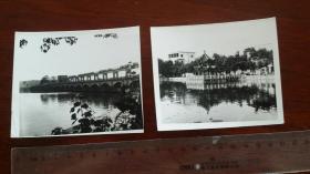 1986泾县荷花塘洗心亭,泾县溪口大闸。省摄协会员作品