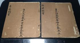 重光大渊献岁在仲冬毂旦立,性房善房关书,大开本古本手抄,两册一套。