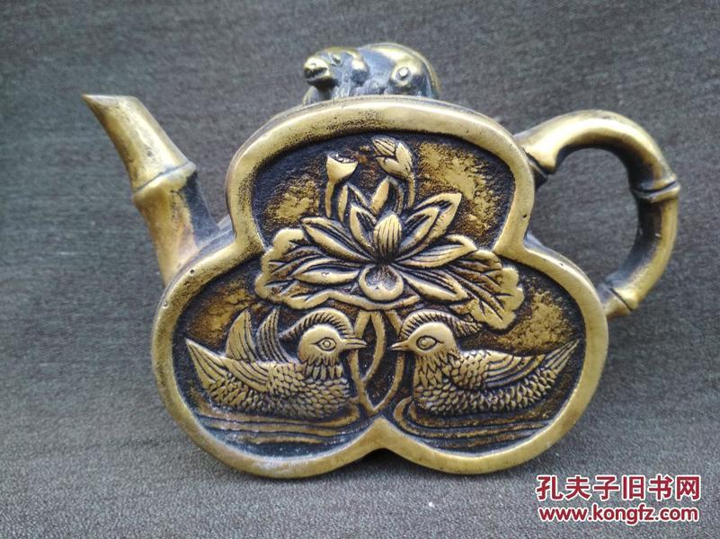 铜质双面工壶