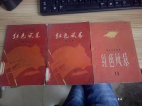 江西革命斗争故事《红色风暴》第三、九、十一集 三册合售