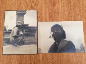 1936年奉天在留日本女人纪念照片两张