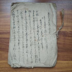 手抄本【4】     线装古籍  手钞本  《真书太阁记》 卷十  皮纸手写       字体优美流畅