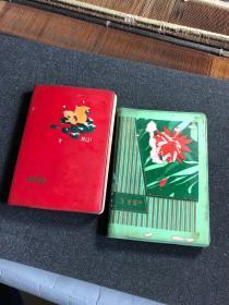 宁殿弼手稿笔记两本  关于戏剧采访 个人日记笔记等