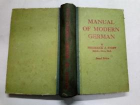 Manual Of Modern German (现代德语手册)