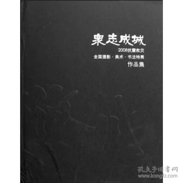 众志成城 - - 2008抗震救灾全国摄影·美术·书法特展作品集   年限旧的自然旧,介意者慎拍!