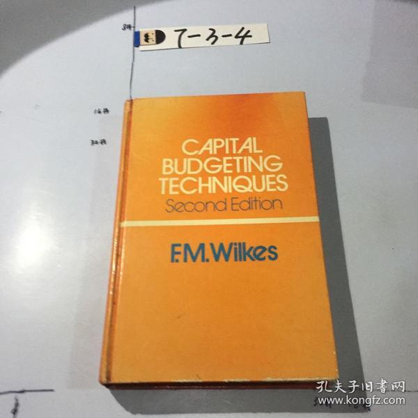 英文原版:Capital budgeting techniques second Edition  资本预算技术第二版 .精装 书口封面微污渍 微黄斑