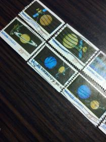 美国信销票 1991年太空探索太阳系 10枚全 九大行星 航空航天题材