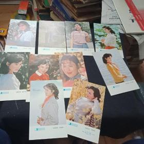80年代 电影明星  娜仁花 刘晓庆 陈冲唐国强等10张全