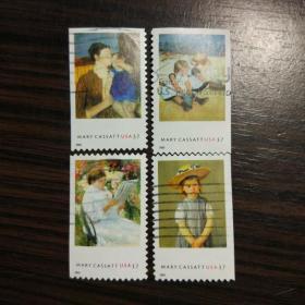 美国信销邮票 2003年 珍宝系列 印象派画家 玛丽史蒂文森 卡萨特