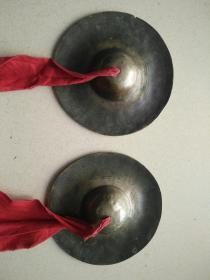 清代京剧用铜镲一对直径16厘米