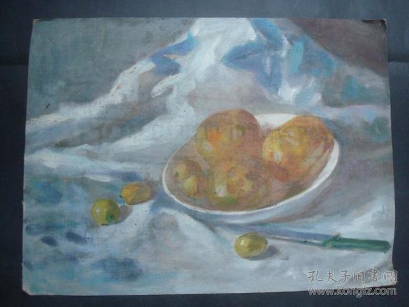 油画8-1.....43.5*32.5厘米。创作时间不详