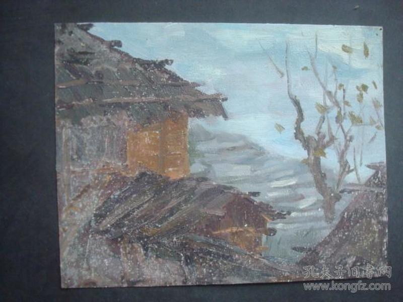老油画12.....20.5*16.5厘米。创作时间不详