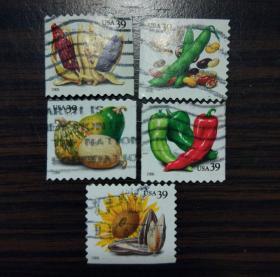 美国2006年蔬菜瓜果 青椒辣椒 玉米 葵瓜子 豌豆 芸豆 红豆 南瓜