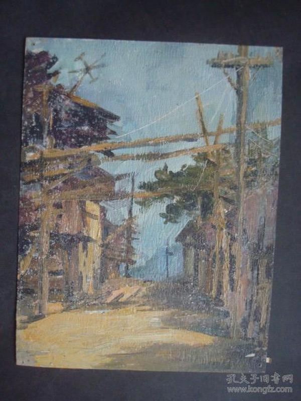 老油画13.....21*16厘米。创作时间不详