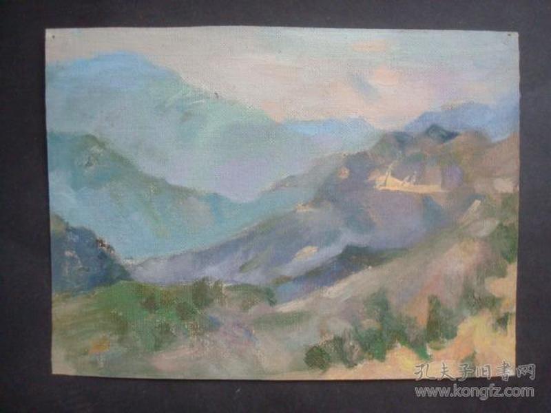 老油画16.....24.5*18厘米。创作时间不详.....