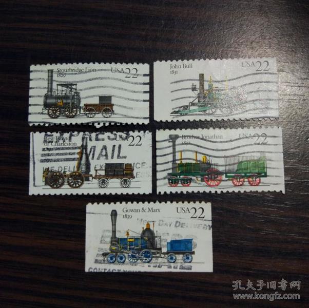 美国信销票1987年 内燃机车 古董火车头 蒸汽机车