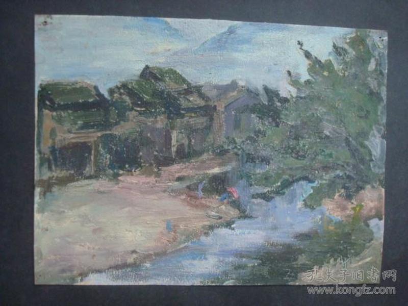 老油画19.....22*16.5厘米。创作时间不详.....