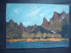 老油画24.....26*38厘米。创作时间不详