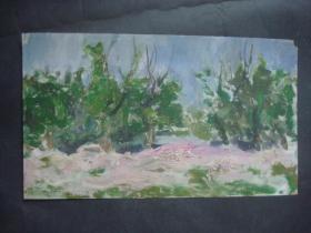 老油画26.....36*21厘米。创作时间不详