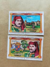 外国邮票 图瓦卢邮票Nukufetau 4枚(甲16-1)