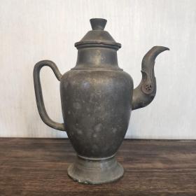 清代老锡壶锡器酒壶天圆地方民俗杂项茶壶酒具收藏