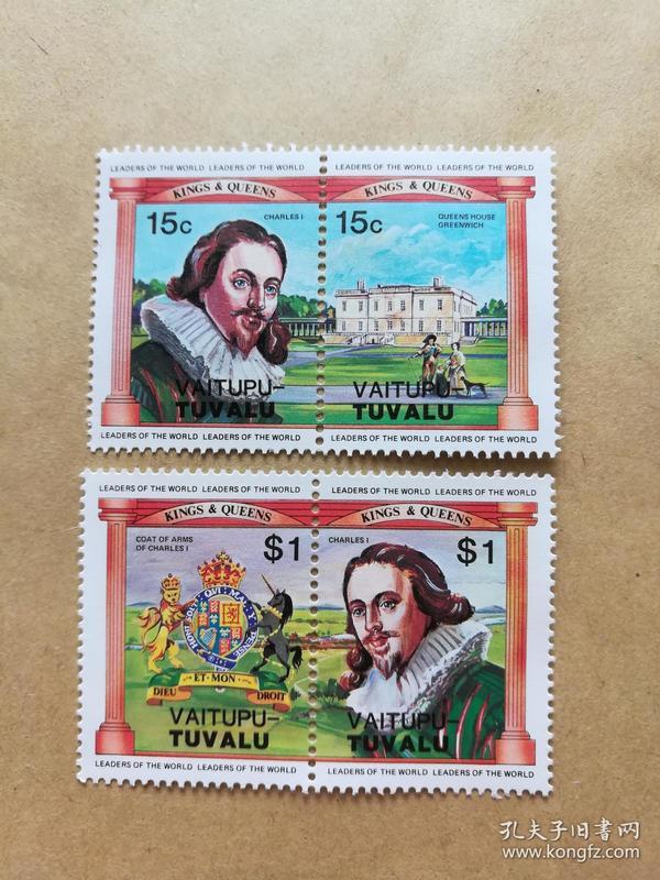 外国邮票 图瓦卢邮票Vaitupu 4枚(甲16-2)