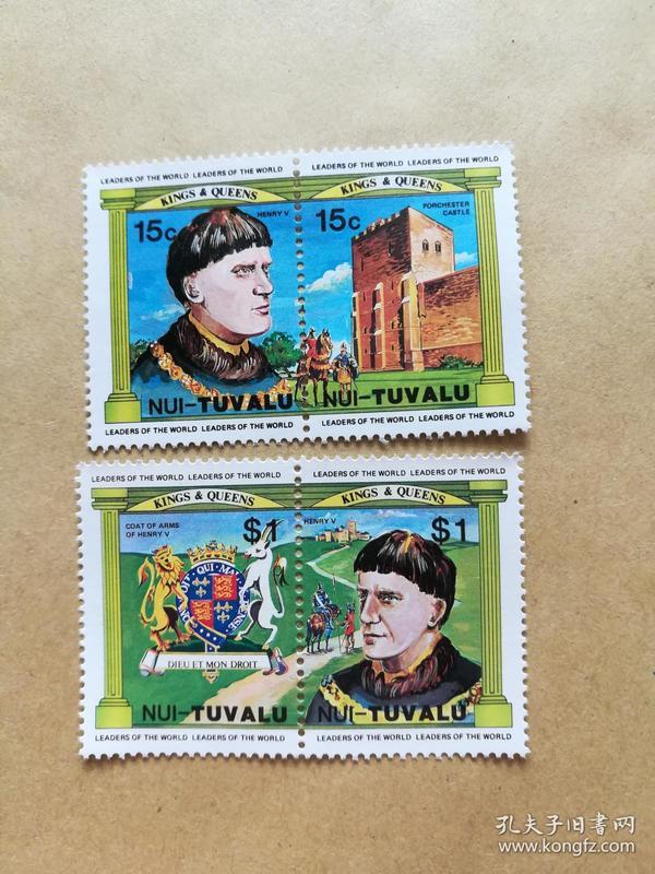 外国邮票 图瓦卢邮票Nui 4枚(甲16-3)