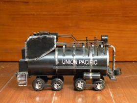 早期 美国联合太平洋铁路公司火车模型 铁皮玩具火车头