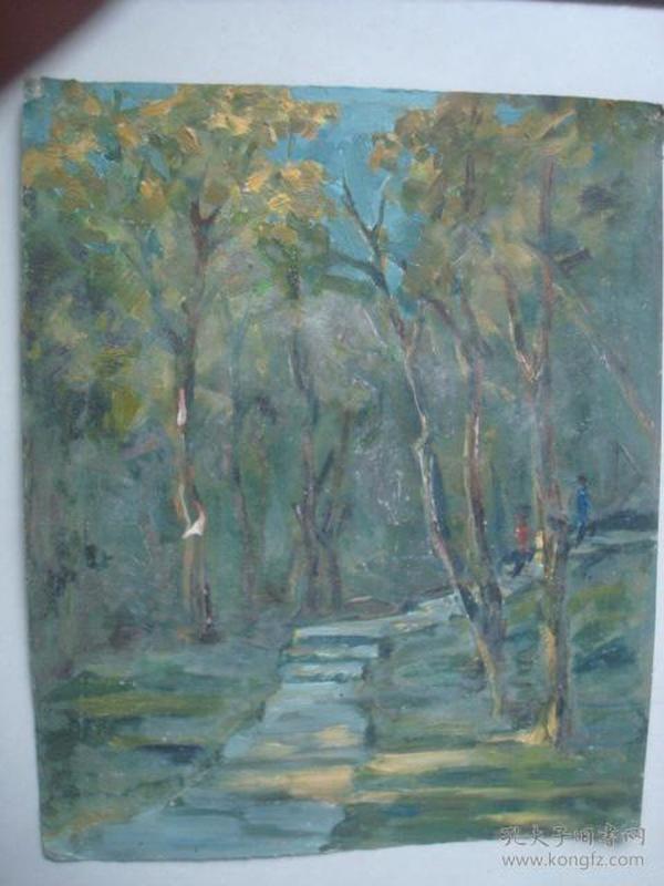老油画35.....39.5*32.5厘米。创作时间不详