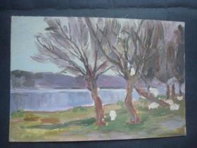 老油画36.....38*26厘米。创作时间不详....