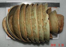宋代   益阳   羊舞岭窑    青釉9个大粘连碗   貌似龙泉窑釉色 [高29cm径19.5cm]