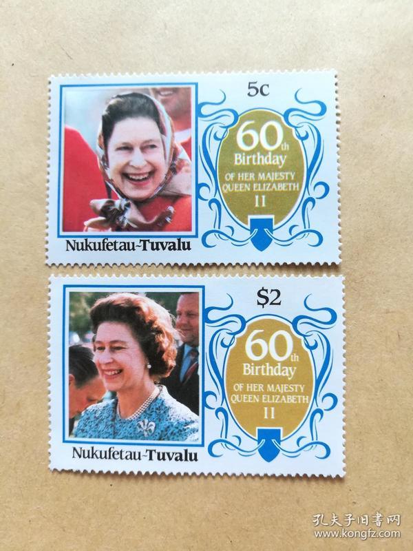 外国邮票 图瓦卢邮票Nukufetau 2枚(甲16-4)