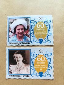 外国邮票 图瓦卢邮票Nanumaga 2枚(甲16-4)
