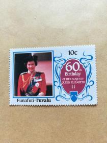 外国邮票 图瓦卢邮票Funafuti 1枚(甲16-4)
